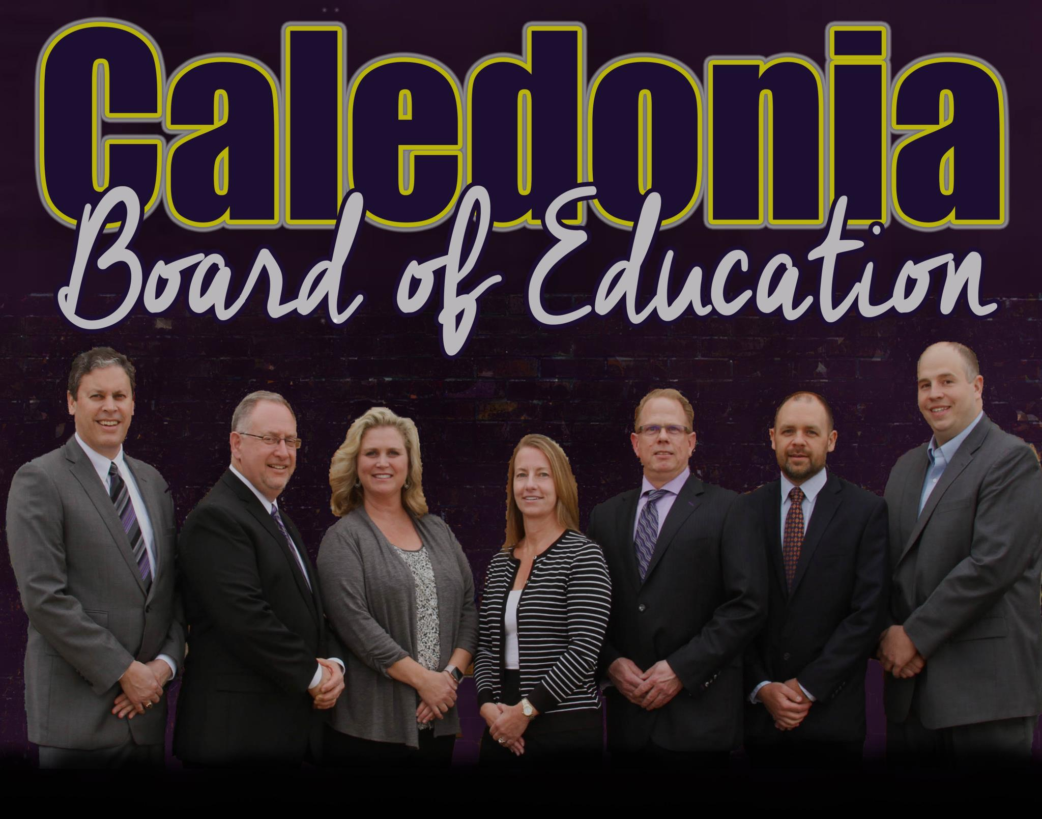 Group picture of the Caledonia Board of Education