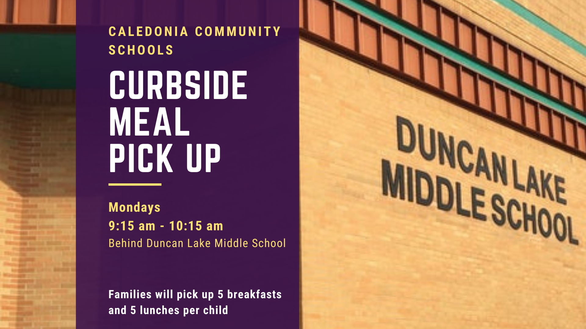 Curbside Meal Information