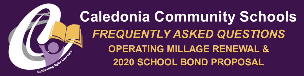 FAQs for OPERATING MILLAGE RENEWAL & 2020 SCHOOL BOND PROPOSAL