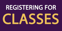 Registering for Classes Header