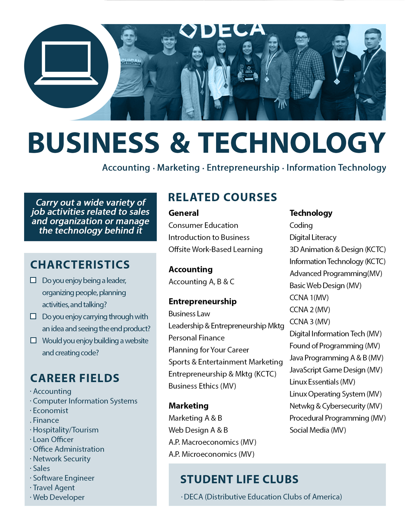 Business & Technology Pathway