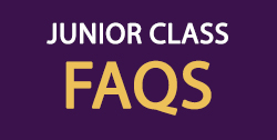 Junior Class FAQ Header