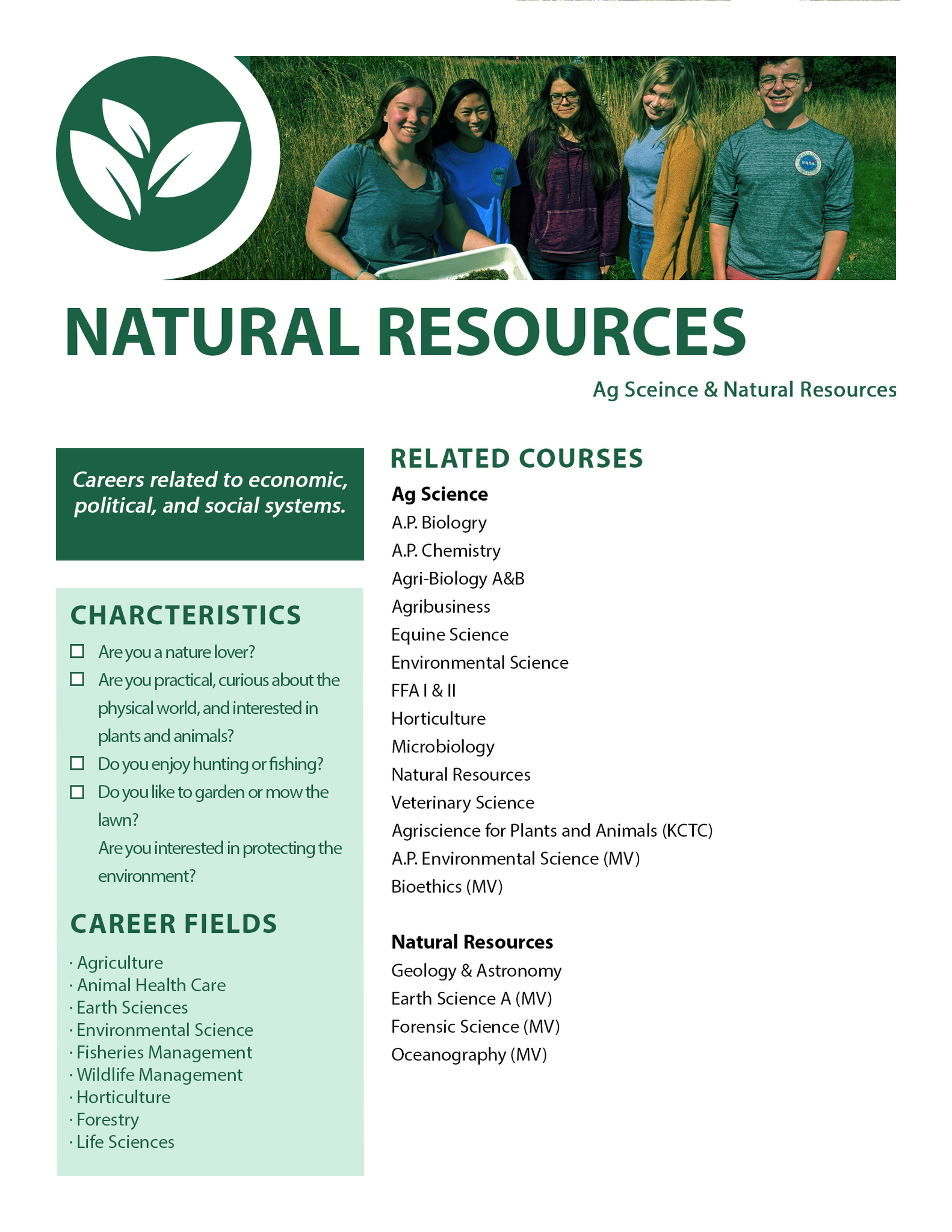 Natural Resources Pathway
